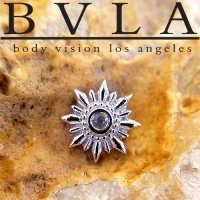 "BVLA 14Kt Gold ""Compass"" Threaded End Dermal Top 18g 16g 14g 12g Body Vision Los Angeles"