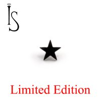IS Limited Edition Black Titanium Threaded Star 4mm 14 Gauge 12 Gauge 14g 12g
