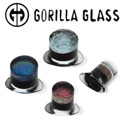 Gorilla Glass Dichroic Labrets 0 Gauge to 1""