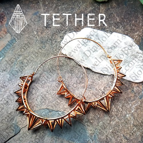 "Tether Jewelry Stainless Steel ""Atlas"" Ear Hangers Earrings (Pair) - Click Image to Close"