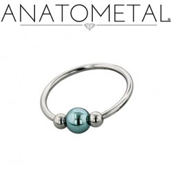 Anatometal Titanium Circular Barbell with Captive Bead 14 Gauge 14g