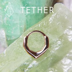 "Tether Jewelry Stainless Steel ""Archive"" Clicker 14 Gauge 14g"