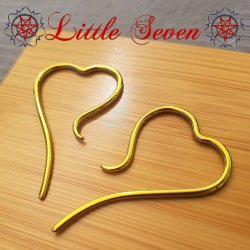 "Little Seven Niobium Small ""Disentris"" Hanging Designs 12 Gauge 12g (Pair)"