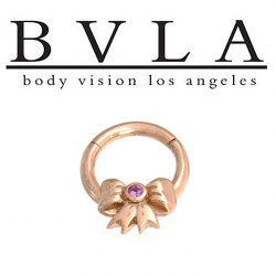 BVLA Gift Bow 14kt Gold Septum Ring 16g Body Vision Los Angeles