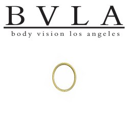 BVLA 14kt Rose Yellow White Gold Oval Seam Ring 20g 20 gauge Body Vision Los Angeles