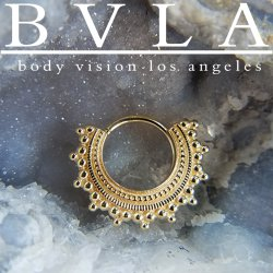 "BVLA 14kt Gold ""Afghan"" Septum Daith Seam Ring 16 Gauge 16g Body Vision Los Angeles"