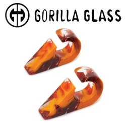 "Gorilla Glass Power Triangles 0.2oz Ear Weights 1/2"" And Up (Pair)"
