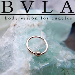 BVLA 18kt Gold Fixed Bead Rings 18 gauge 18 karat 18g Body Vision Los Angeles
