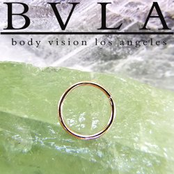 BVLA 18kt 22kt Gold Seam Ring 20 Gauge 20g Body Vision Los Angeles