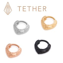 "Tether Jewelry Stainless Steel ""Lattice"" Clicker 14 Gauge 14g"