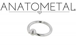 Anatometal Surgical Stainless Steel Fixed Bead Ring 10g 10 Gauge