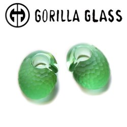 "Gorilla Glass Martele Ovoids 0.5oz Ear Weights 1/2"" And Up (Pair)"