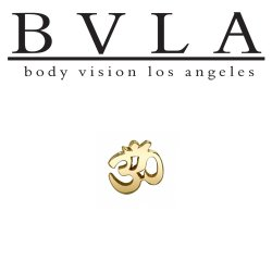 "BVLA 14Kt Gold ""Ohm"" Threadless End 18g 16g 14g ""Press-fit"""