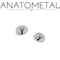 Anatometal Titanium Threaded Dome End 6 Gauge 6g