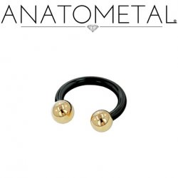 Anatometal Niobium Circular Barbell With Titanium Ball Ends 12 Gauge 12g