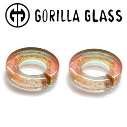 "Gorilla Glass Deluxe Dichroic Flat Saturns 0.5oz Ear Weights 9/16"" And Up (Pair)"