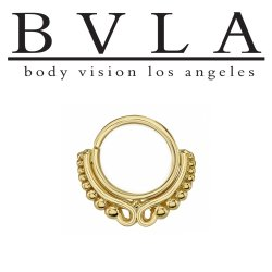 "Body Vision BVLA 14kt Gold ""Adele"" Nose Nostril Septum Ring 18 Gauge 18g"