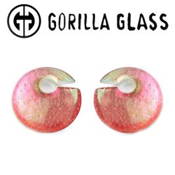 "Gorilla Glass Deluxe Dichroic Eclipse 1.5oz Ear Weights 1/2"" And Up (Pair)"