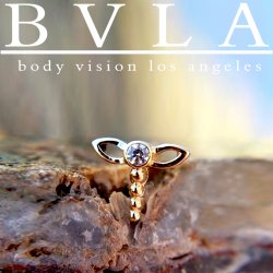 BVLA 14kt Gold Dragonfly Nostril Screw Nose Bone Ring Stud Nail 20g 18g 16g Body Vision Los Angeles
