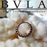 "BVLA 14kt Gold ""Desiree\"" Daith Septum Nose Seam Ring 20 Gauge 20g Body Vision Los Angeles"