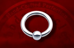 "Body Circle Surgical Stainless Steel Captive Bead Ball Closure Ring 1/2"" Inner Diameter 4 Gauge 4g Sale!"