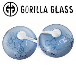 "Gorilla Glass Small Torian Eclipses Ear Weights 1/2"" And Up (Pair)"