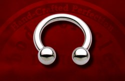 "Body Circle Surgical Stainless Steel 3/8"" Circular Horseshoe Barbell 12 Gauge 12g Sale!"