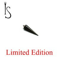"IS Limited Edition Black Titanium Threaded Spike 3/8"" 14 Gauge 14g"