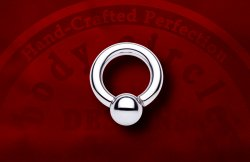 Body Circle Surgical Stainless Steel Screw Ball Ring 4g 4 Gauge
