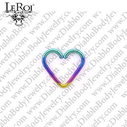 LeRoi Niobium Pure Heart Daith Ring Seam Ring 20 Gauge 20g - Click Image to Close