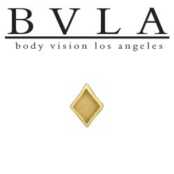 "BVLA 14kt Gold ""Diamond"" Card Suit Threaded End Dermal Top 18g 16g 14g 12g Body Vision Los Angeles"