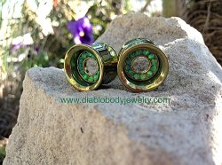 Anatometal Titanium Orbit Gem Bling Eyelets 0g - 2""