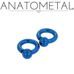 Anatometal Titanium Screw on Ball Ring 4g 2g