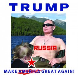 "Anti-Trump ""Make Russia Great Again"" Sticker Decal 4"" Square"