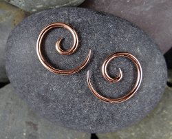 Little Seven Copper Spiral 12g 10g 8g 6g 4g (Pair)