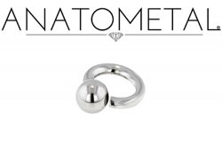 Anatometal Surgical Stainless Steel Screw on Ball Ring 14 Gauge 14g