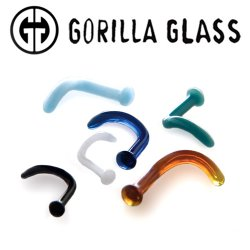 Gorilla Glass Borosilicate Nostril Screws 18g 16g 14g 12g