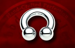 "Body Circle Surgical Stainless Steel 1/2"" Circular Horseshoe Barbell 2 Gauge 2g Sale!"