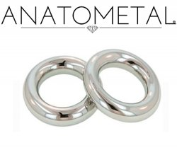 Anatometal Surgical Stainless Steel Segment Seam Continuous Ring 6g 6 Gauge