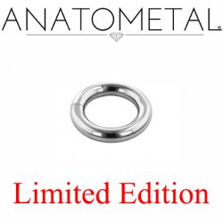 "Anatometal Surgical Steel 9/16"" Segment Ring 6 Gauge 6g Limited Edition"