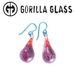 Gorilla Glass Special Dichroic Earrings (Pair)