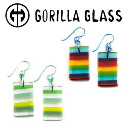 Gorilla Glass Linear Earrings (Pair)