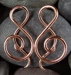 Little Seven Copper Shakti Spiral 12g 10g (Pair)