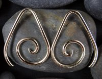 Little Seven Brass Tear Spiral 14g 12g 10g 8g 6g 4g (Pair)