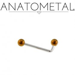 Anatometal Titanium Christina L-Bar Barbell Female Genital Piercing 16 Gauge 16g