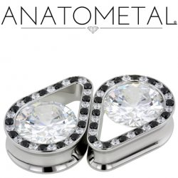 "Anatometal Surgical Steel Double Flare Super Teardrop Eyelet 1/2"" - 1"""