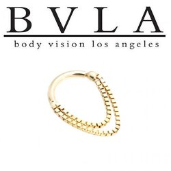 BVLA 14kt Gold Dire Straights Nose Nostril Septum Ring 12g Body Vision Los Angeles