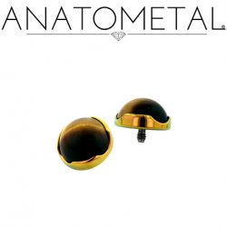 Anatometal Titanium Threaded 4mm Prong-Set Cabochon Gem End 18 Gauge 16 Gauge 14 Gauge 12 Gauge 18g 16g 14g 12g