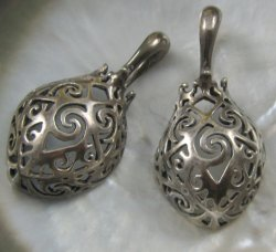 Silver Borneo Basket Ear Hook Earrings 4g