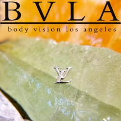 "BVLA 14kt Gold 5mm City Life LV Threadless End 18g 16g 14g Body Vision Los Angeles ""Press-fit"""